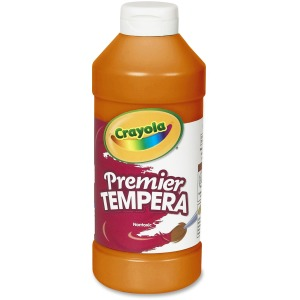 Premier Tempera Paint, 16 oz. Bottle - Orange