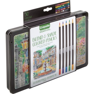 Crayola 50 Count Signature Blend & Shade Colored Pencils In Decorative Tin