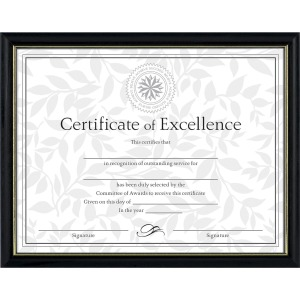 Dax Burns Group Two-tone Certificate Frame