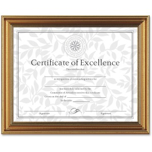 Dax Burns Group Antique-colored Certificate Frame