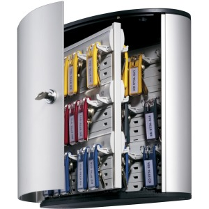 DURABLE® Brushed Aluminum Keyed Lock 54-Key Cabinet