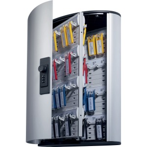 DURABLE® Brushed Aluminum Combo Lock 72-Key Cabinet