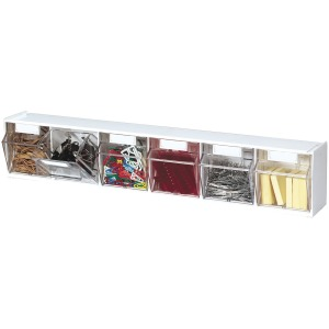 Deflecto Tilt Bin Interlocking Multi-Bin Storage Organizer