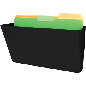 Deflecto Sustainable DocuPocket Letter Black-1 Pocket 50% Recycled Content
