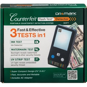 Dri Mark Counterfeit Flash Test Detection System