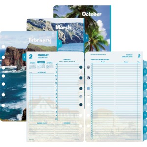 Day-Timer Coastlines 2-page-per-day Planner Refill