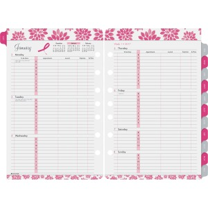 Day-Timer Pink Ribbon 2-page-per-week Planner Refill