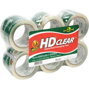 "Duck Brand HD Clear Extra Width 3"" Packaging Tape"