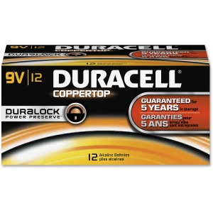 Duracell Coppertop Alkaline 9V Battery - MN1604