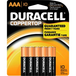 Duracell Coppertop Alkaline AAA Battery - MN2400