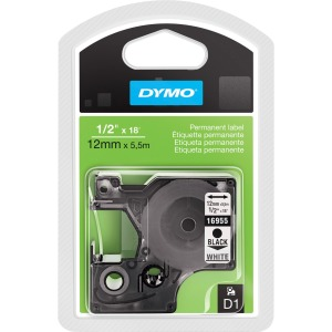 "Dymo 1/2"" D1 Permanent Label Cartridge"