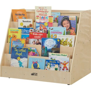ECR4KIDS Birch Storage Book Display