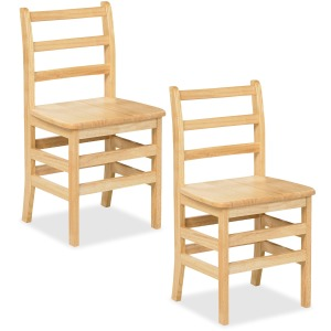 "ECR4KIDS 16"" 3 Rung Ladderback Chair - Assembled"