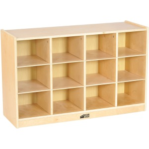 ECR4KIDS Birch 12 Cubby Tray Unit