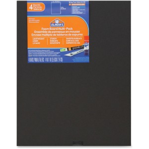 Elmer's 4-pack Black Foam Boards