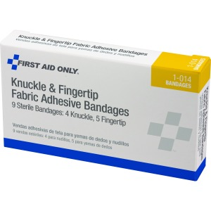 First Aid Only Knuckle/Finger Fabric Adhes Bandages
