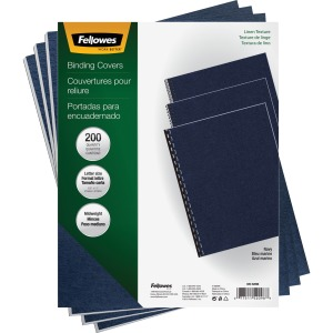 Fellowes Expressions™ Linen Presentation Covers - Letter, Navy, 200