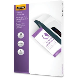 Fellowes Glossy Pouch - Legal, 3 mil, 50 pack