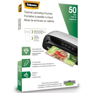 Fellowes Thermal Laminating Pouches - Letter, 5mil, 50 pack