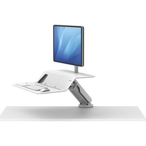 Fellowes Lotus™ RT Sit-Stand Workstation White Single