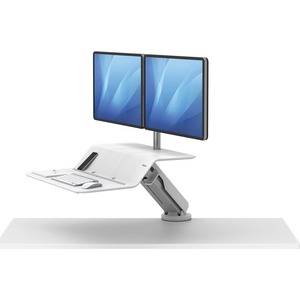 Fellowes Lotus™ RT Sit-Stand Workstation White Dual