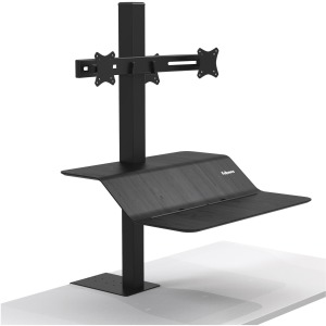 Fellowes Lotus Clamp Mount for Monitor - Black