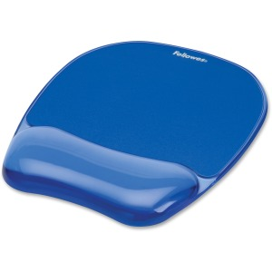 Fellowes Crystals® Gel Mousepad/Wrist Rest - Blue