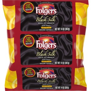 Folgers Black Silk Ground Coffee Filter Packs Ground