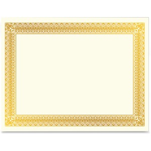 Geographics Gold Foil Certificate
