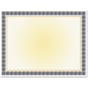 Geographics Award Certificates Burgundy Gold Foil