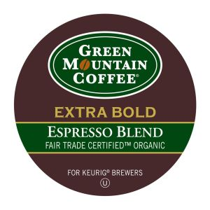 Green Mountain Coffee Roasters Espresso Blend Coffee - Regular - Full/Extra Dark/Extra Bold - K-Cup - 24 / Box