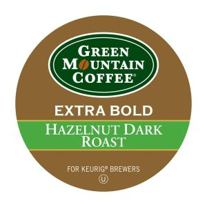 Green Mountain Coffee Roasters Hazelnut Dark Roast Coffee - Regular - Full/Extra Dark/Extra Bold - K-Cup - 24 / Box