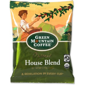 Green Mountain Coffee Roasters Fair Trade Organic House Blend Decaf Coffee