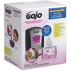 Gojo LTX-7 Plum Foam Dispenser Starter Kit