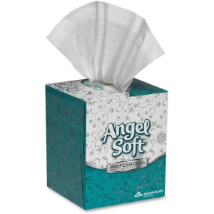 Angel Soft Professional Series Facial Tissue in Cube Box