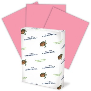 "Hammermill Colored Paper, Cherry Paper, 8.5"" x 11"" - 1 Ream / 500 Sheets"