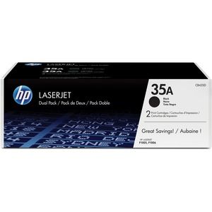HP 35A Original Toner Cartridge Dual Pack - Black - Dual Pack