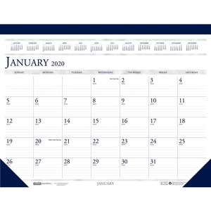 House of Doolittle Perforated Top Desk Pad Calendar
