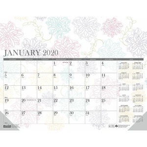 House of Doolittle Whimsical Doodle Monthly Desk Pad