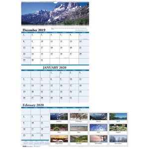 House of Doolittle Scenic 3-month Wall Calendar