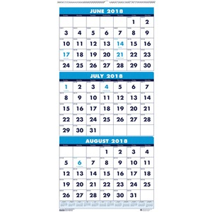 House of Doolittle Three-month Vertical Academic Wall Calendar