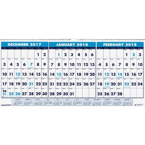 House of Doolittle 3-month Horizontal Wall Calendar