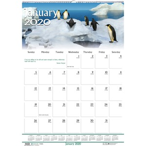 House of Doolittle Earthscapes Wildlife Midsz Wall Calendar