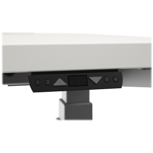 Height-Adjustable Table Memory Controller, 4 1/8w x 1 1/2d x 3/4h, Black