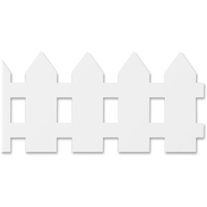Hygloss White Fence Design Border Strips