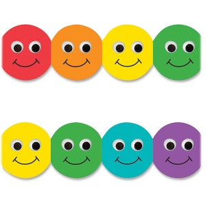Hygloss Smiley Face Design Border Strips