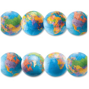 Hygloss Globe Design Border Strips