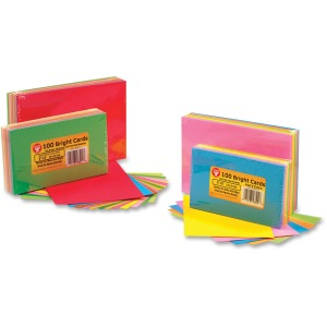 Hygloss Bright Color Blank Note Cards