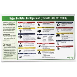 Impact Products Safety Data Sheet Spanish Poster