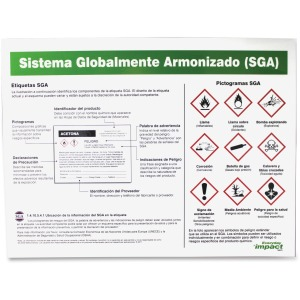 Impact Products GHS Label Guideline Spanish Poster